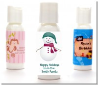 Snowman - Personalized Christmas Lotion Favors