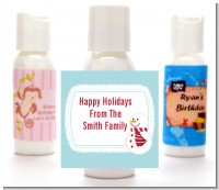 Snowman Snow Scene - Personalized Christmas Lotion Favors