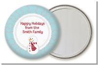 Snowman Snow Scene - Personalized Christmas Pocket Mirror Favors