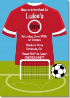 Soccer - Birthday Party Invitations