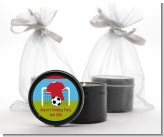 Soccer - Birthday Party Black Candle Tin Favors