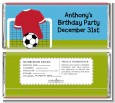 Soccer - Personalized Birthday Party Candy Bar Wrappers thumbnail