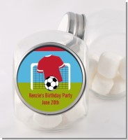 Soccer - Personalized Birthday Party Candy Jar