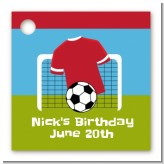 Soccer - Personalized Birthday Party Card Stock Favor Tags