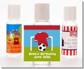 Soccer - Personalized Birthday Party Hand Sanitizers Favors