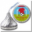 Soccer - Hershey Kiss Birthday Party Sticker Labels thumbnail