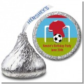 Soccer - Hershey Kiss Birthday Party Sticker Labels