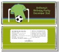 Soccer Jersey Green and Blue - Personalized Birthday Party Candy Bar Wrappers thumbnail
