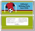 Soccer Jersey Red and Black - Personalized Birthday Party Candy Bar Wrappers thumbnail