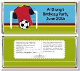 Soccer Jersey Red and Black - Personalized Birthday Party Candy Bar Wrappers