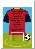 Soccer Jersey Red and Black - Birthday Party Petite Invitations