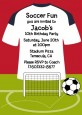 Soccer Jersey White, Red and Black - Birthday Party Invitations thumbnail
