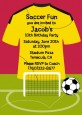 Soccer Jersey Yellow and Red - Birthday Party Invitations thumbnail