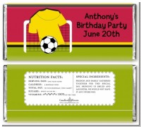 Soccer Jersey Yellow and Red - Personalized Birthday Party Candy Bar Wrappers