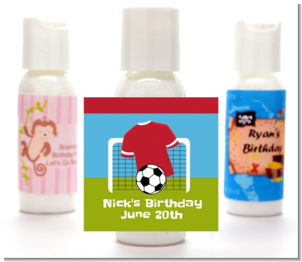 Soccer - Personalized Birthday Party Lotion Favors