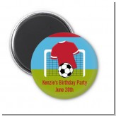 Soccer - Personalized Birthday Party Magnet Favors