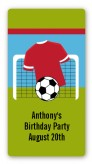 Soccer - Custom Rectangle Birthday Party Sticker/Labels