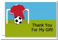 Soccer - Birthday Party Thank You Cards