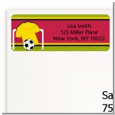 Soccer Jersey Yellow and Red - Birthday Party Return Address Labels