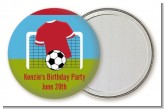Soccer - Personalized Birthday Party Pocket Mirror Favors