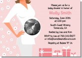 Sonogram It's A Girl - Baby Shower Invitations