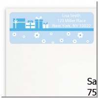 Sonogram It's A Boy - Baby Shower Return Address Labels
