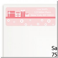 Sonogram It's A Girl - Baby Shower Return Address Labels