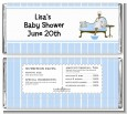 Spa Mom Blue African American - Personalized Baby Shower Candy Bar Wrappers thumbnail