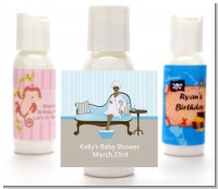 Spa Mom Blue African American - Personalized Baby Shower Lotion Favors