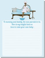 Spa Mom Blue African American - Baby Shower Notes of Advice
