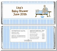 Spa Mom Blue - Personalized Baby Shower Candy Bar Wrappers