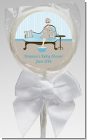 Spa Mom Blue - Personalized Baby Shower Lollipop Favors