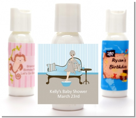 Spa Mom Blue - Personalized Baby Shower Lotion Favors