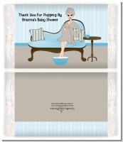 Spa Mom Blue - Personalized Popcorn Wrapper Baby Shower Favors