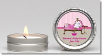 Spa Mom Pink African American - Baby Shower Candle Favors