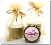 Spa Mom Pink African American - Baby Shower Gold Tin Candle Favors