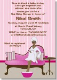 Spa Mom Pink African American - Baby Shower Invitations