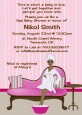 Spa Mom Pink African American - Baby Shower Invitations thumbnail