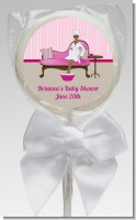 Spa Mom Pink African American - Personalized Baby Shower Lollipop Favors