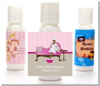 Spa Mom Pink African American - Personalized Baby Shower Lotion Favors