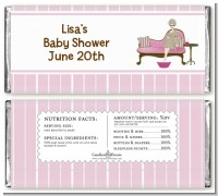 Spa Mom Pink - Personalized Baby Shower Candy Bar Wrappers