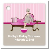 Spa Mom Pink - Personalized Baby Shower Card Stock Favor Tags