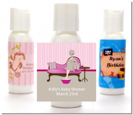 Spa Mom Pink - Personalized Baby Shower Lotion Favors