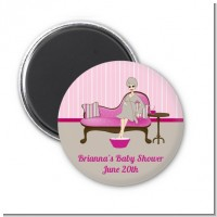 Spa Mom Pink - Personalized Baby Shower Magnet Favors