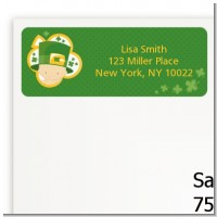 St. Patrick's Baby Shamrock - Baby Shower Return Address Labels