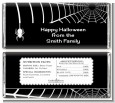 Spider - Personalized Halloween Candy Bar Wrappers thumbnail