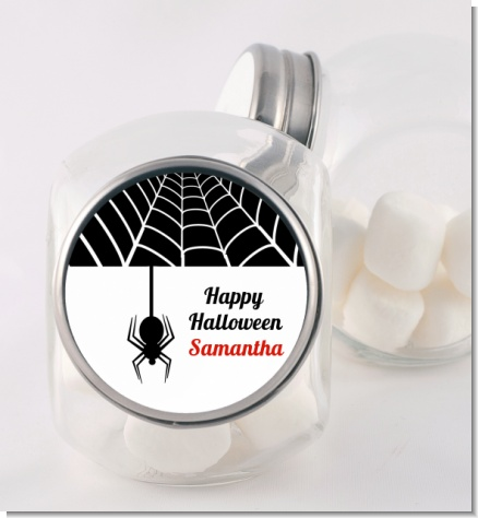 Spider - Personalized Halloween Candy Jar
