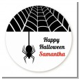 Spider - Round Personalized Halloween Sticker Labels thumbnail