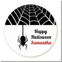 Spider - Round Personalized Halloween Sticker Labels