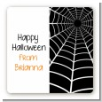 Spider - Square Personalized Halloween Sticker Labels thumbnail